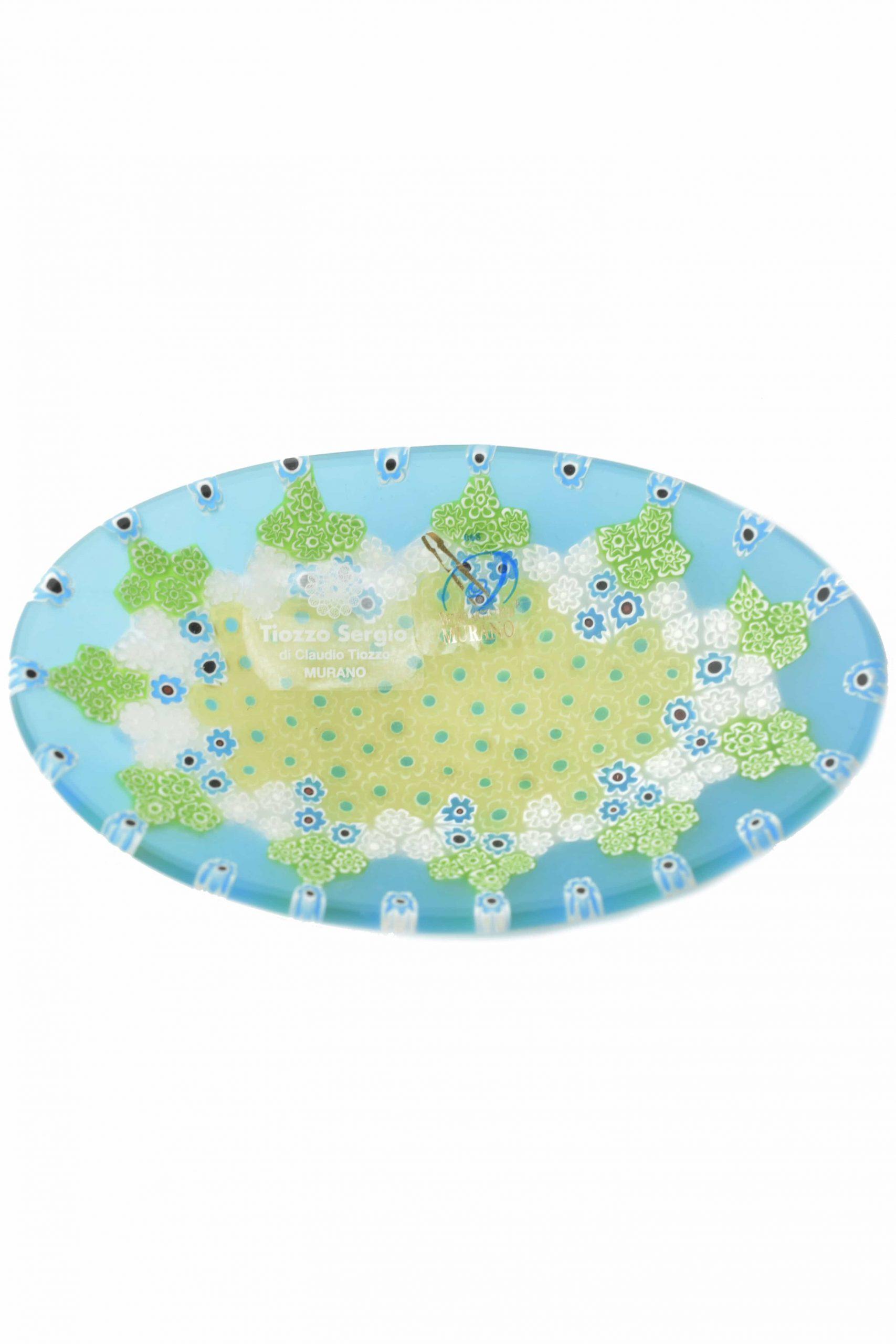 piatto murrine in vetro di muarno