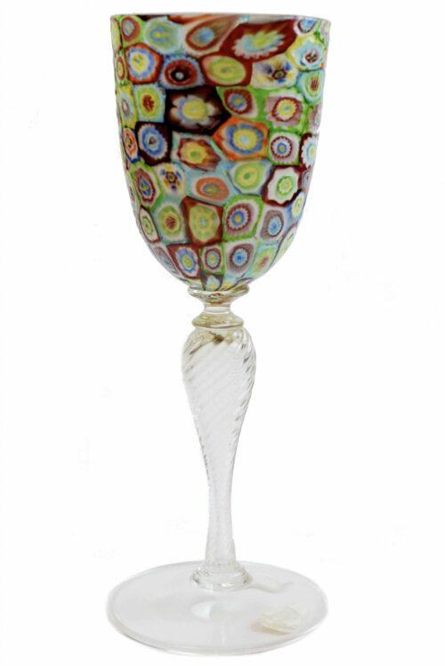 Calice con murrine vintage in vetro di Murano