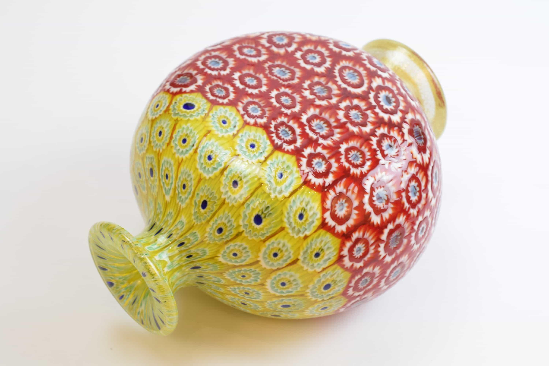 Bicolor murrine vase