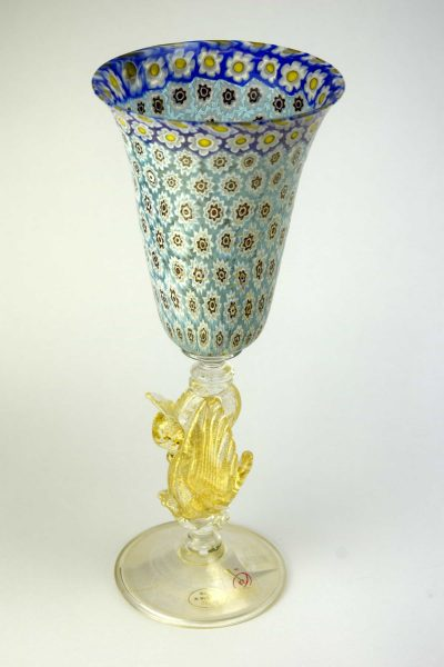 Gold and Murrine goblet