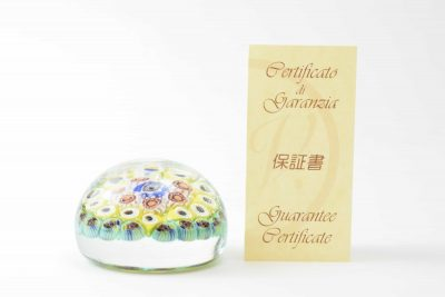 Vintage murrine paperweight