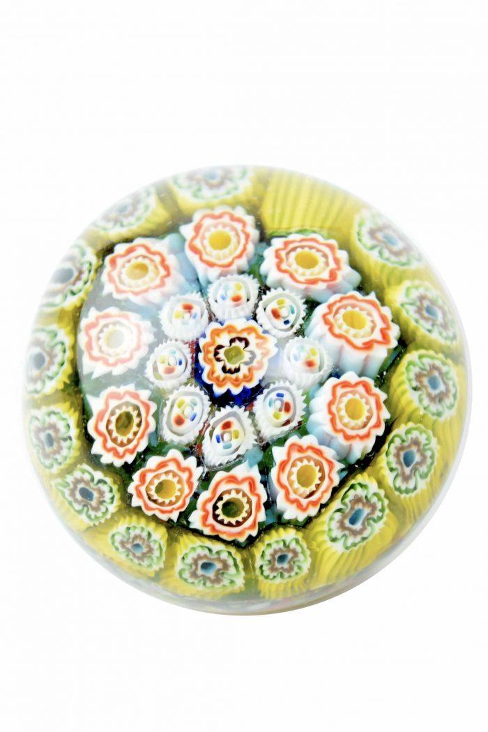 murano glass paperweight murrine