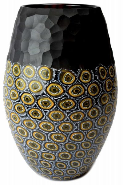 Battuto vase with murrine