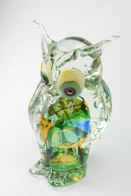 Owl sculpture submerged