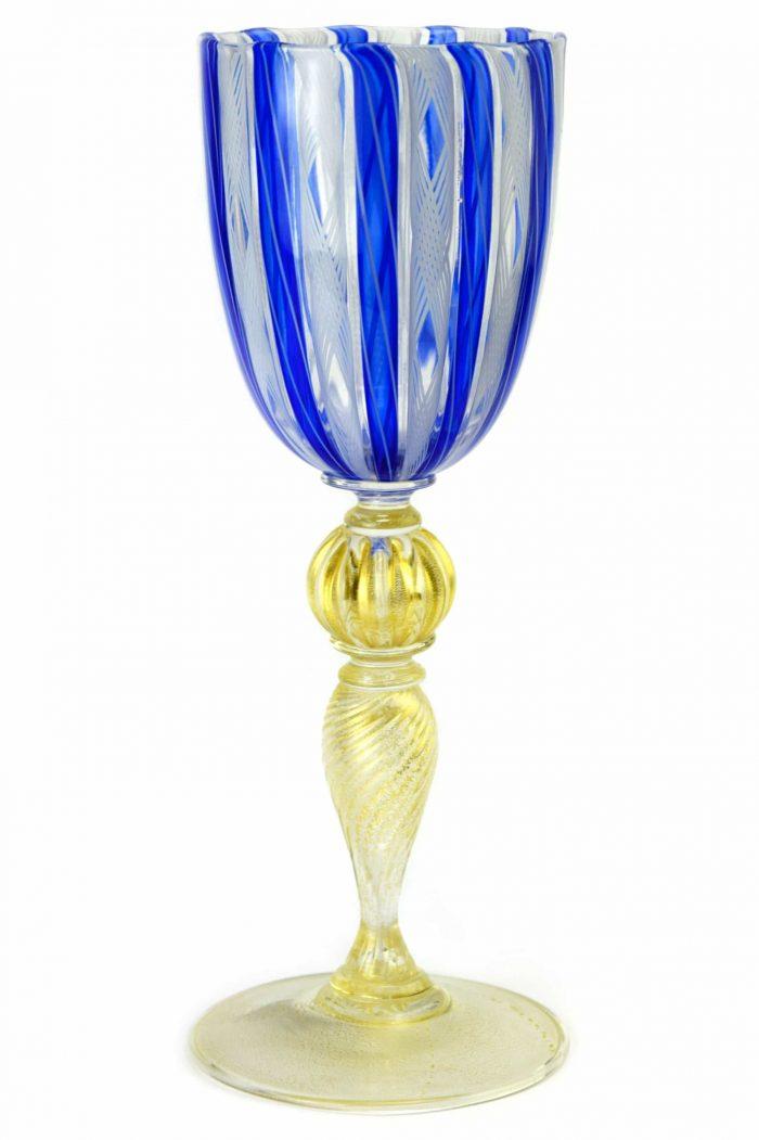 murano glass goblet