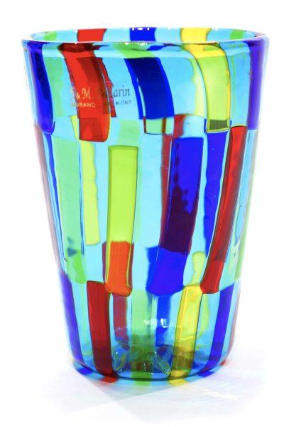 Murano glass pezzato vase