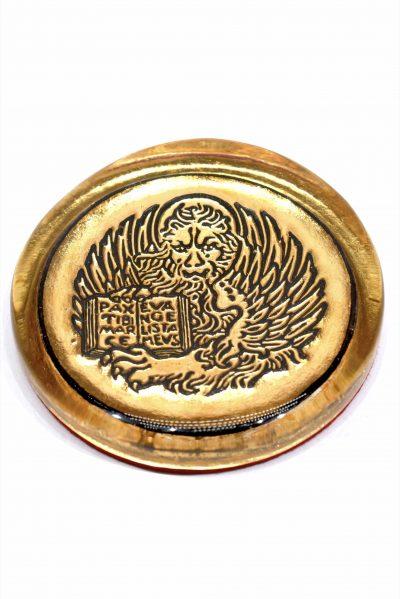 Gold leaf lion