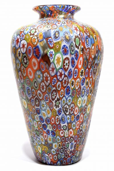 murano glass vase signed
