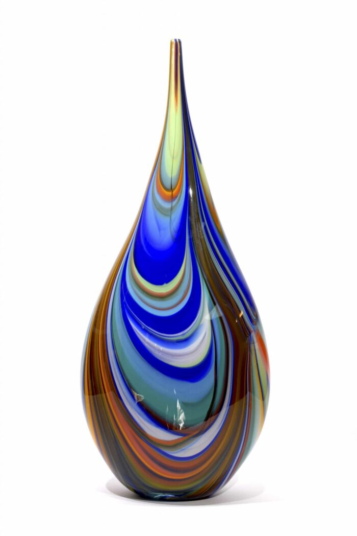 Murano glass vase signed