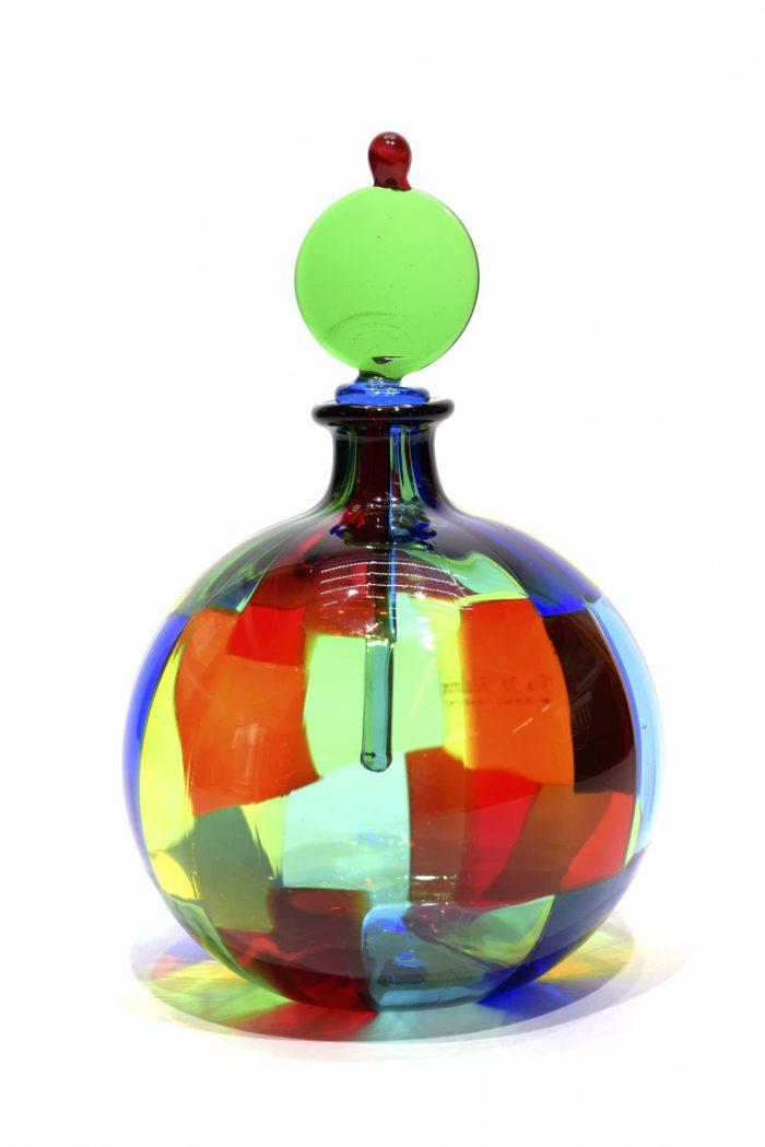 bottiglia pezzata realizzata dal maestro Ballarin