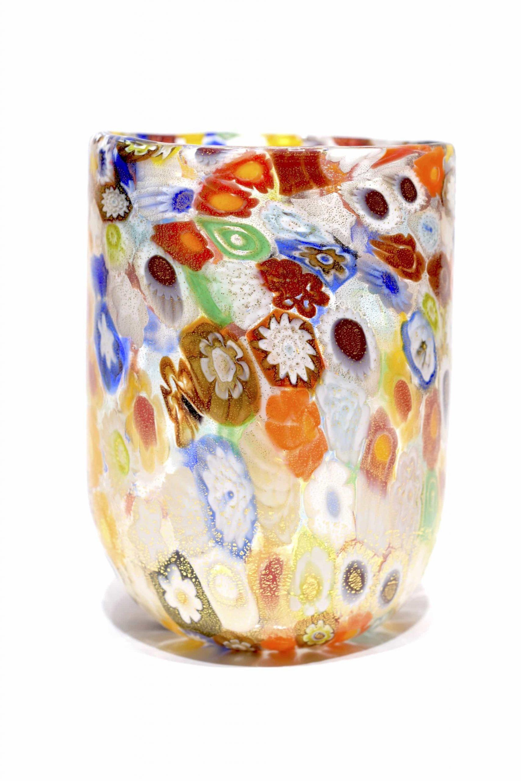 Goto millefiori in vetro di Murano