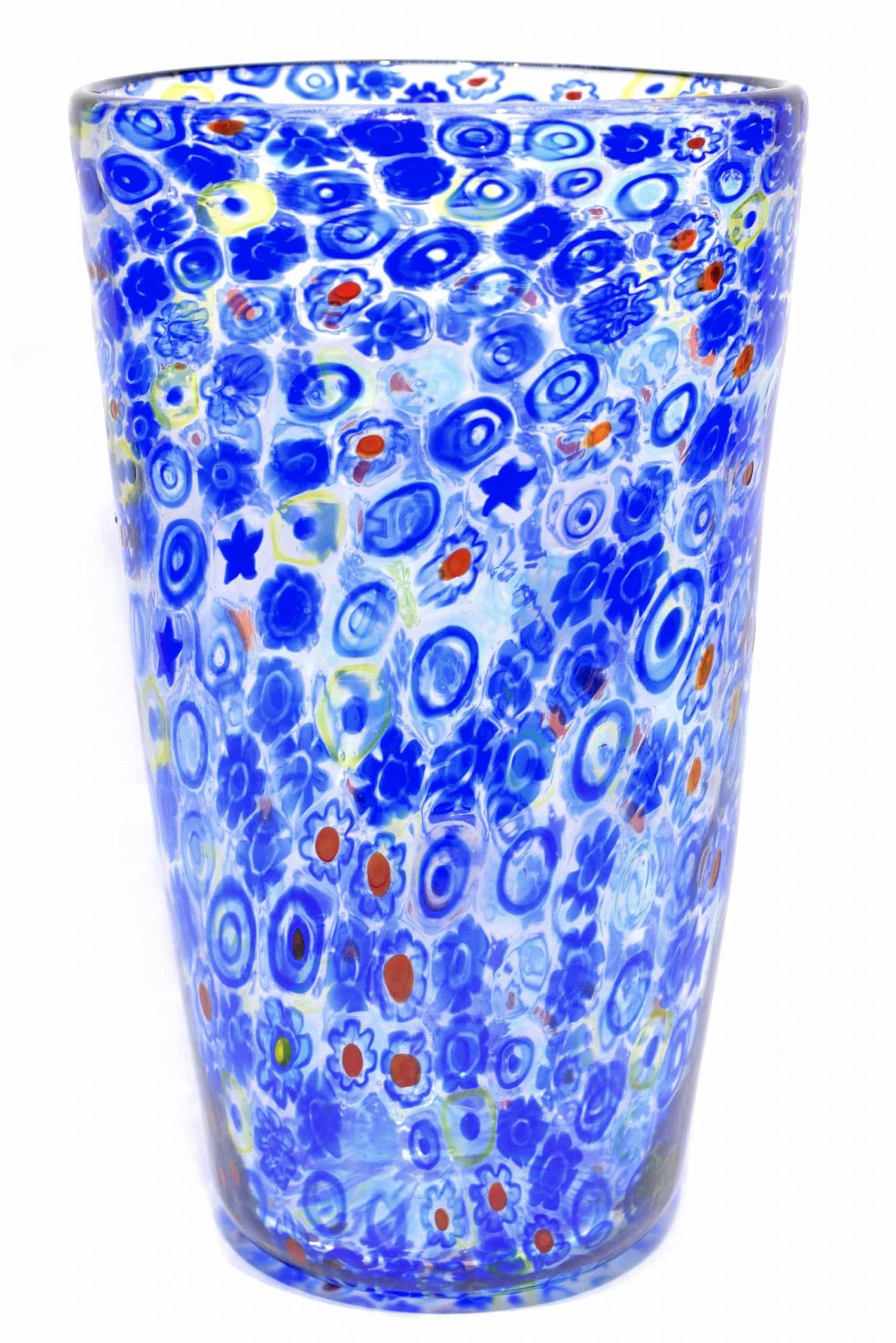 Vaso murrine in vetro di Murano firmato