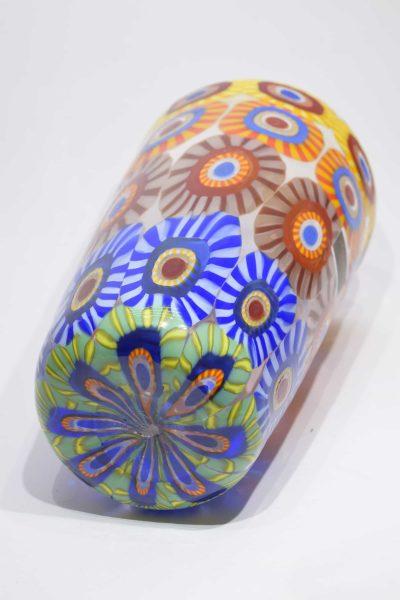 Conical murrine vase