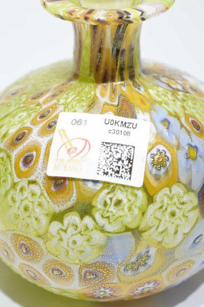 Gold leaf murrine bottle