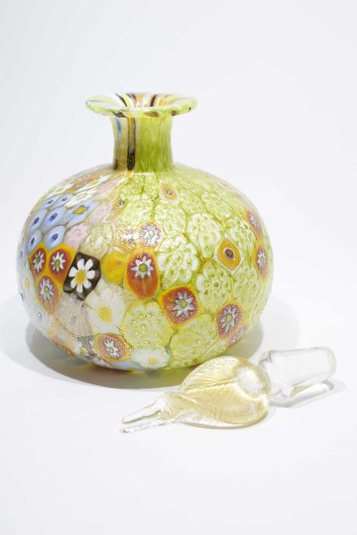 Gold leaf murrine bottle