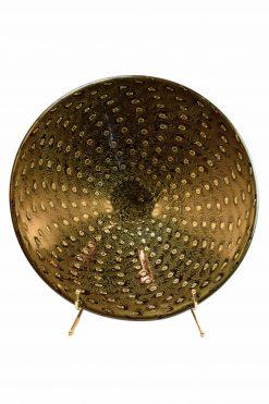 piatto centrotavola in vetro di murano con bolle oro