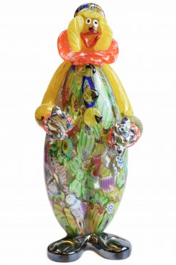 clown with murano glass murrine