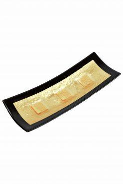 centrotavola in vetro di murano con foglia oro