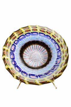 centrotavola mosaico in vetro di murano firmato