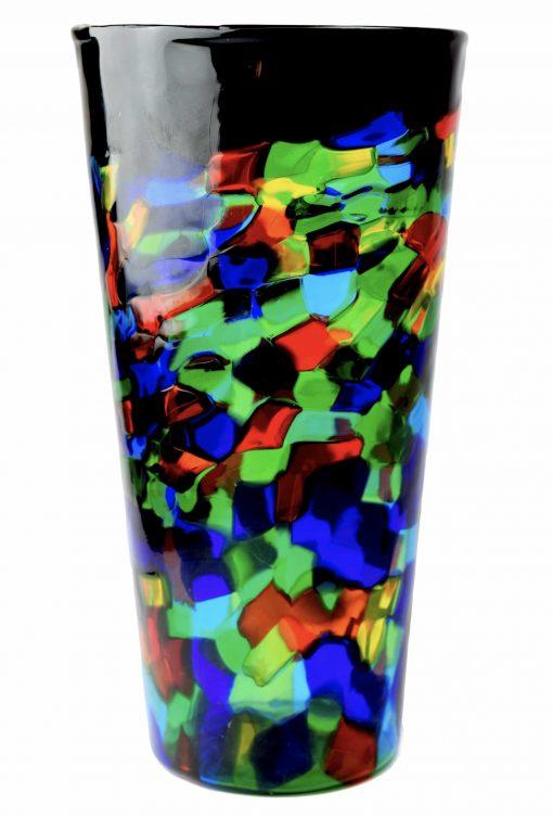 vaso pezzato in vetro