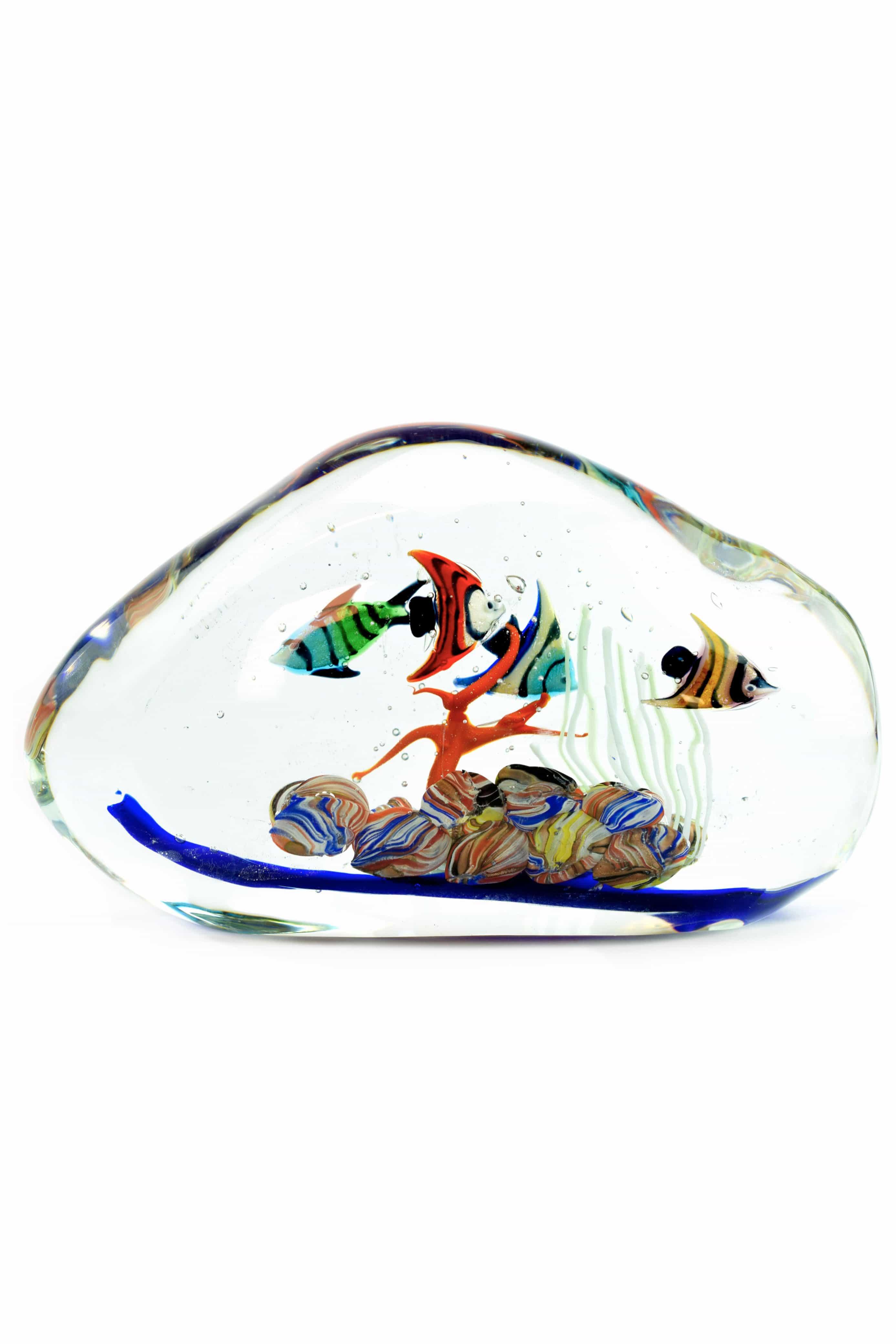 acquario in vetro di murano firmato