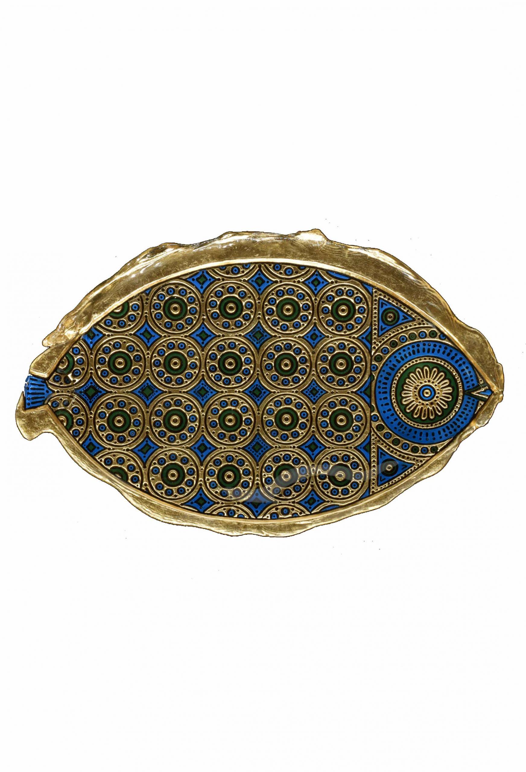 bassorilievo foglia oro in vetro di murano