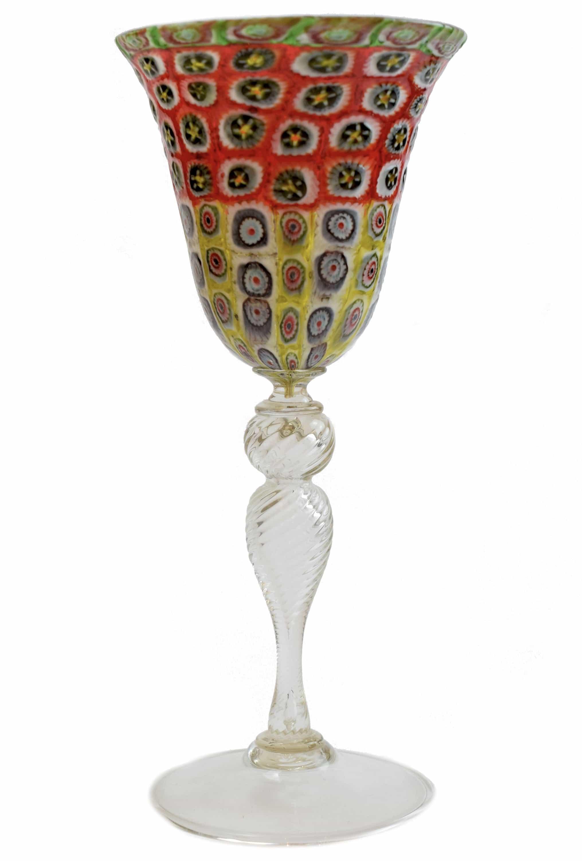 Vintage murrine goblet