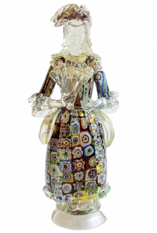 scultura con murrine in vetro di murano