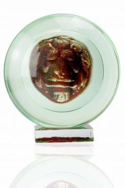 scultura in vetro di murano firmata dal maestro pino signoretto