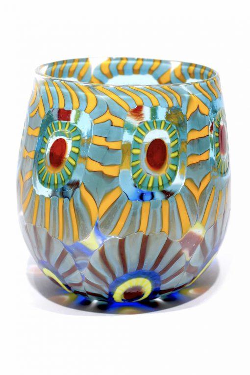 bicchiere goto in vetro di murano firmato