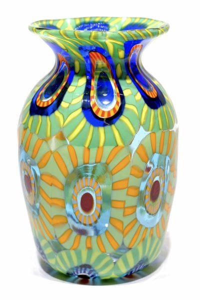 Multicolor murrine vase