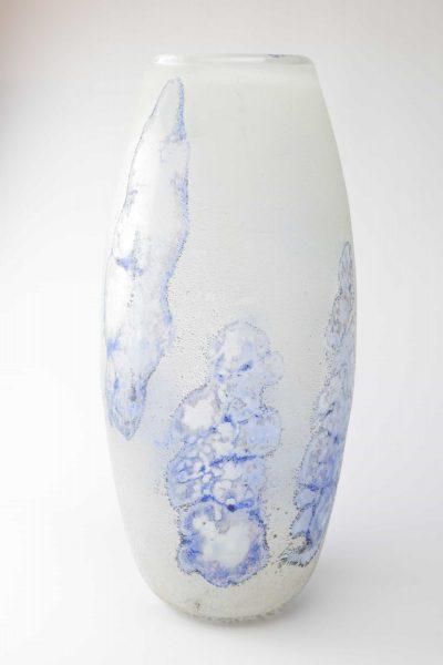 Vaso in vetro di murano scavo anni '50