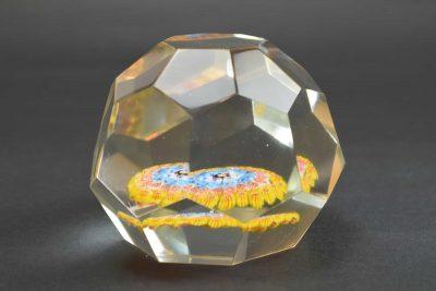 Murano glass paperweight vintage with murrine