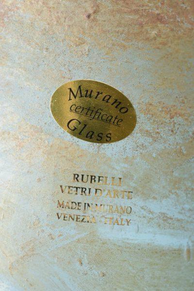 Murano glass vase scavo