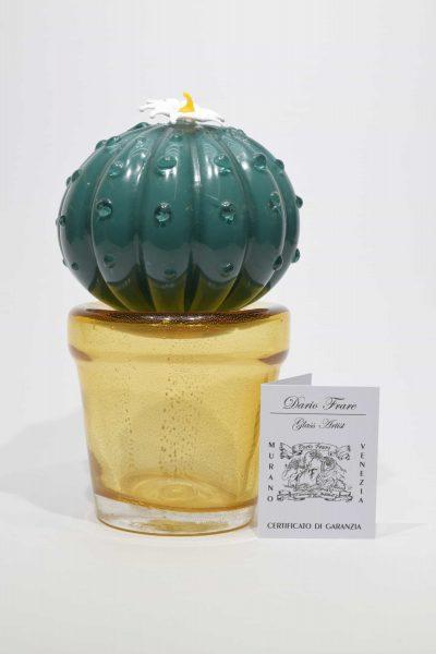 Murano glass cactus