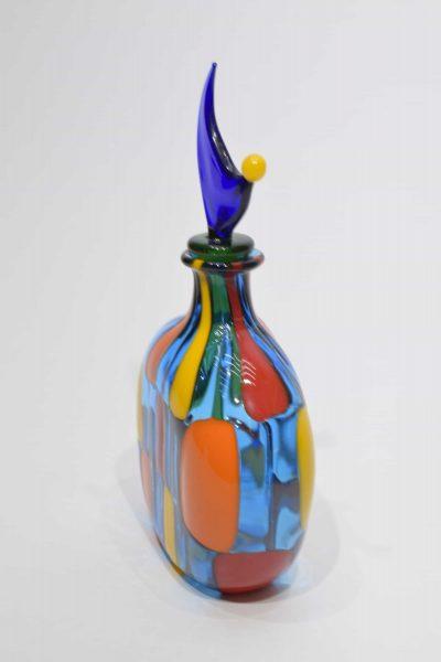 Murano glass bottle pezzata