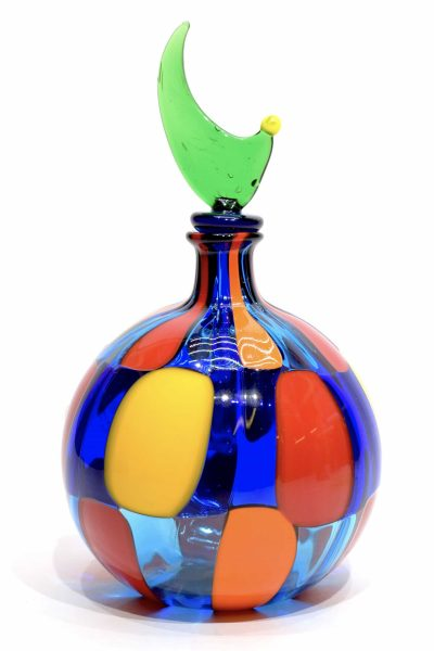 Murano glass pezzato bottle