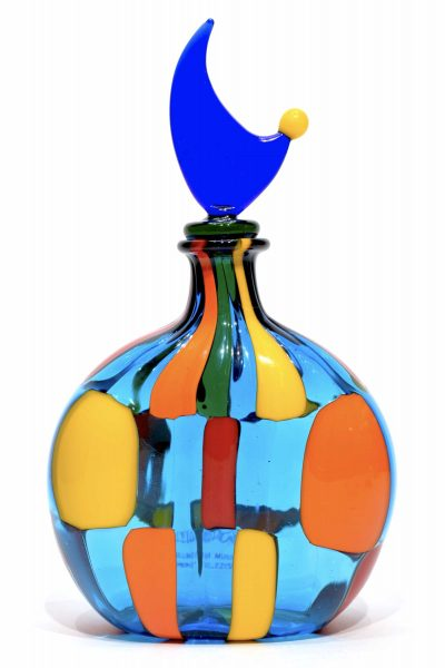 Murano dappled glass bottle