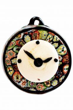 orologio in vetro di murano con murrine