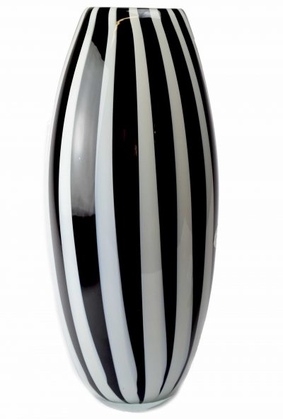 Murano glass vase with vertical rod