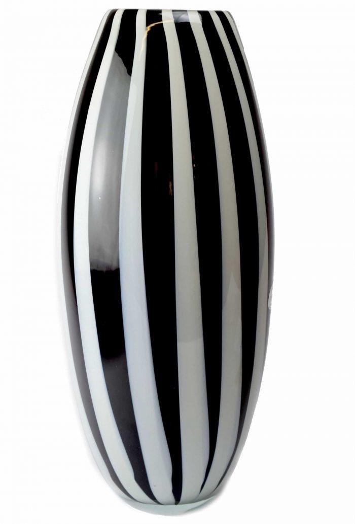 vaso con canne in vetro di murano