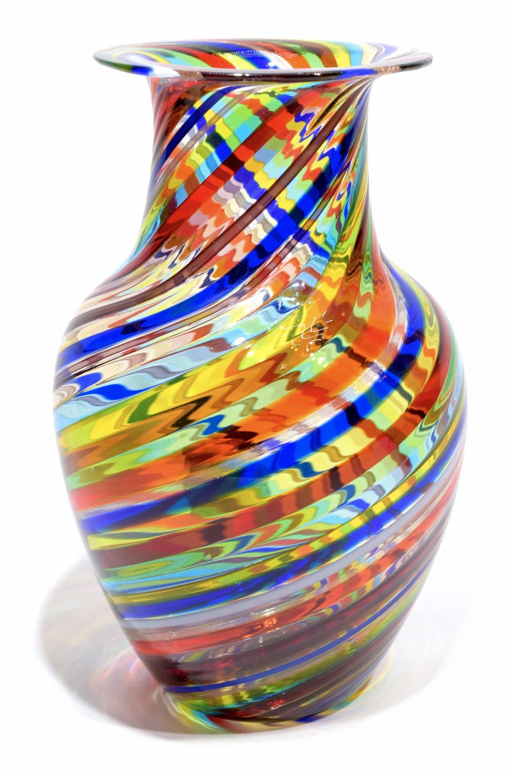 vaso in vetro di murano firmato