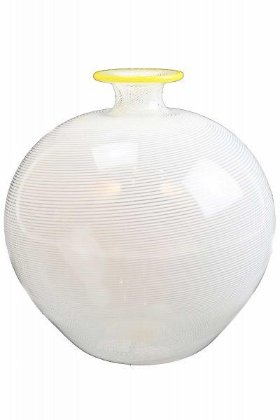 Murano glass vase with filigrana