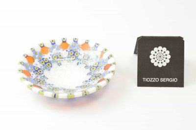 Murano glass plate murrine