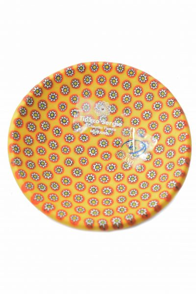 Murano glass plate with murrine