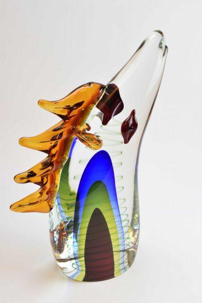 Murano glass horse sculpture