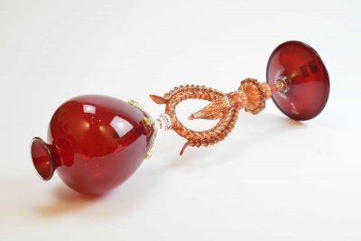Murano glass goblet tipetto