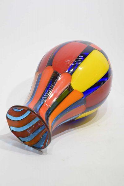 Vaso pezzato di vetro di murano