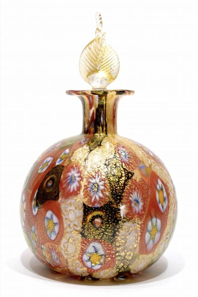 Murano glass bottle murrine