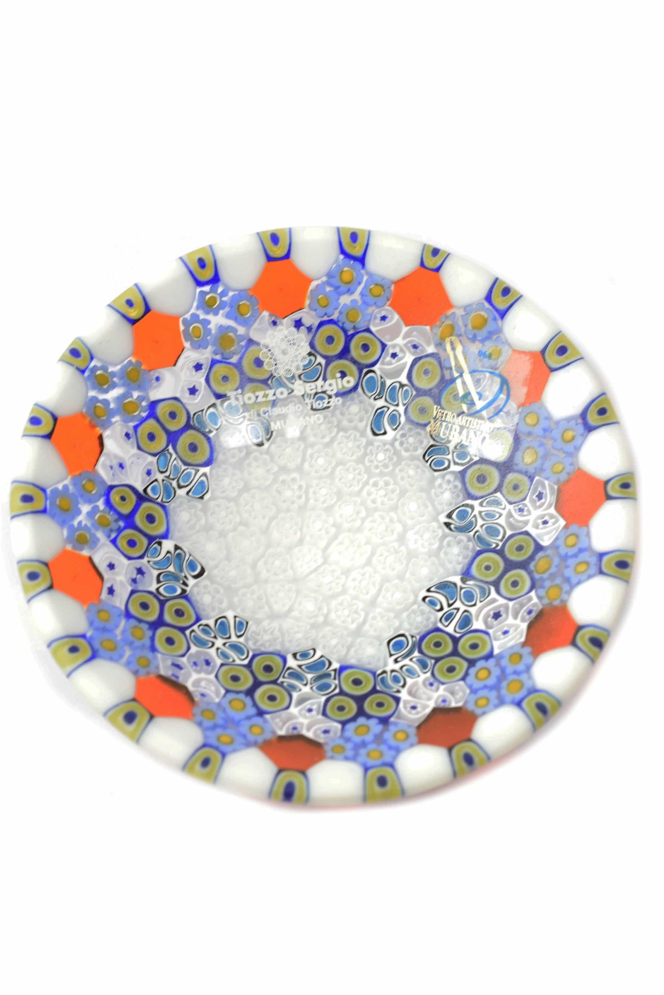 piatto in vetro di murano